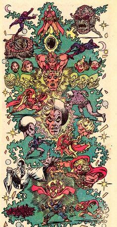 jim starlin  artist | Adam Warlock MuralWARLOCK #10 (Dec. 1975)Art by Jim Starlin (pencils ...