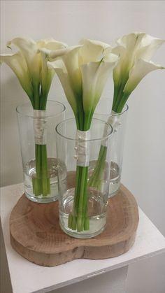 White calla lilly bouquets