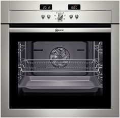 NEFF B14P42N3GB. A stylish oven which benefits several useful features including CircoRoasting, a function that reduces cooking times by 35-40%, Defrost and Rapid Heat; it's the perfect choice for replacing your old oven.