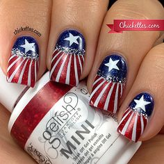 4thofjuly-nail-art by chickettes, via Flickr