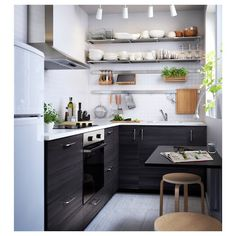 Great Image of Apartment Kitchen Ideas . Apartment Kitchen Ideas Small Apartment Dining Table Ideas Ikea What Eat Kitchen Narrow Ikea Kitchen Design, Small Kitchen Layouts, Modern Kitchen Design, Interior Design Kitchen, Kitchen Ideas, Kitchen Small, Kitchen Tips, Small Dining Table Apartment, Small Apartment Kitchen