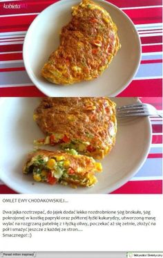 Omlet Ewy Chodakowskiej Lunch Recipes, Breakfast Recipes, Cooking Recipes, Healthy Recipes, Omelette, Clean Eating, Healthy Eating, Cooking Time, Food To Make