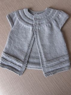 in threes cardigan by Knitting Projects, Knit Cardigan, Baby Knitting, Stitch, Children, Sweaters, Fashion, Vestidos, Baby Vest