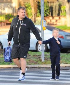 He's also a proud father of two! James Corden has two children with wife Julia Carey: 5-year-old Max... - Boaz/FAMEFLYNET PICTURES/Fame Flynet