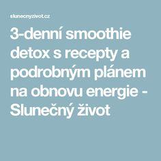3-denní smoothie detox s recepty a podrobným plánem na obnovu energie - Slunečný život