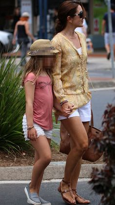 Crown Princess Mary of Denmark and her elder daughter Princess Isabella was seen at the downtown of Byron Bay while shopping. Crown Princess Mary and her family is currently in Australia for the christmas.
