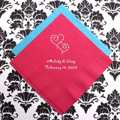 Personalized Wedding Napkins - 50 pcs