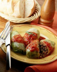 Chef Marek Widomski's Stuffed Cabbage Rolls in Tomato Sauce