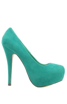 high platform faux suede pump