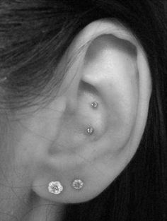 Double Conch Piercing.. thought about it. But after the amount of trouble my conch gave me... never! Super cute though!