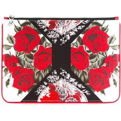 Alexander McQueen Floral Print Clutch Bag (3465 MAD) ❤ liked on Polyvore featuring bags, handbags, clutches, floral handbags, zipper handbag, floral print purse, floral clutches and zip purse