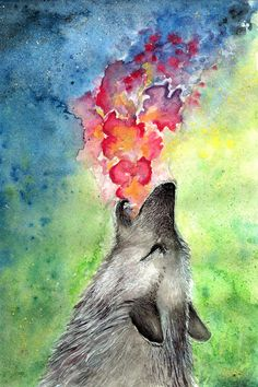 deviantART Shop Framed Wall Art Prints & Canvas | Traditional Art | Paintings | 2012. Wolf by artist ~mhebertfashion