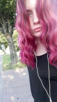 #hair #ombre # pink #summer