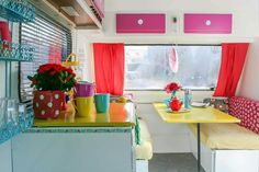 Heart Handmade UK: Super Kitsch Caravan Before and After. My second dream vehicle.
