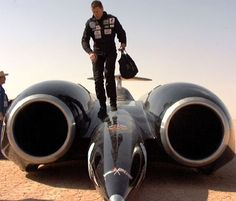 Andy leaving the ThrustSSC