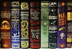 classics. barnes and noble editions. definitely need edgar allen poe and the brothers grimm fairy tales.