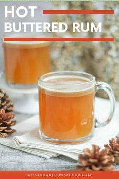 This delicious drink of traditional hot buttered rum is an easy recipe that you can make in a single serving or in a crockpot for a group. Mix the butter batter in advance! #whatshouldimakefor #hotbutteredrum #rumdrinks #rumcocktails #comfortcocktails #spicedrum Frozen Drink Recipes, Rum Cocktail Recipes, Sangria Recipes, Beer Recipes, Crockpot Recipes, Great Recipes, Cooking Recipes, Family Recipes, Yummy Recipes