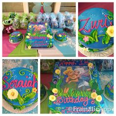 TWINS 1st birthday Secret of the Wings Tinkerbell cake