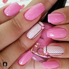 Want some ideas for wedding nail polish designs? This article is a collection of our favorite nail polish designs for your special day. Read for inspiration Trendy Nail Art, Cute Nail Art, Cute Nails, Nail Art Designs 2016, Nail Polish Designs, Cute Summer Nails, Spring Nails, Summer Toenails, Watermelon Nails