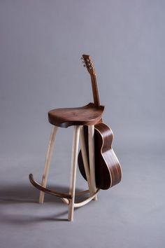 Tim Blackmore Wishbone Guitar Stool u0026 Steel String Guitar & Tim Blackmore Wishbone Guitar Stool/Stand - Sycamore u0026 Walnut ... islam-shia.org