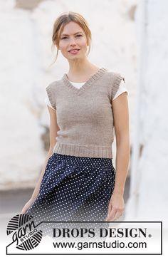 Minimalist / DROPS 210-35 - Gratis strikkeopskrifter fra DROPS Design Drops Design, Knitting Patterns Free, Free Knitting, Free Pattern, Free Crochet, Knit Vest Pattern, Crochet Pattern, Paris Model, Minimalist Pattern