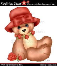 Craft Cliparts - Red Hat Bear