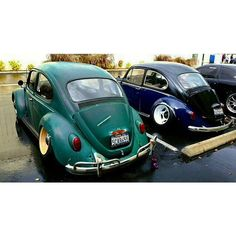 Slammed Vw beetles I know these beetles- Dylan's and Tyler's, busted knuckle garage  Instagram: bustedknucklegarageoc