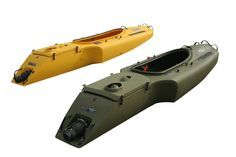 The Mokai. It's essentially a jet propelled kayak that can go 15-17 mph!