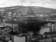 SRo, Bratislava / Š.Svetko, Š.Ďurkovič, S.Talaš, B. Bratislava, Paris Skyline, Louvre, Construction, Architecture, Building, Travel, Arquitetura, Trips