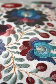 Beautiful Hungarian folk embroidery
