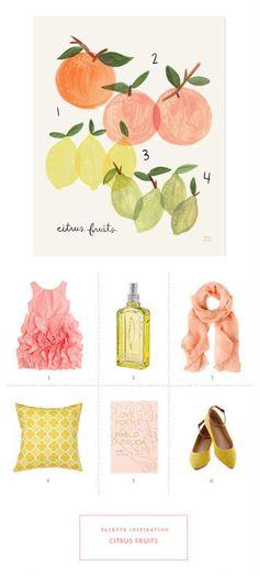 New wedding color inspiration: summer citrus #marthastewartweddings
