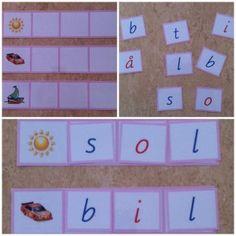 Min blogg om allt mellan himmel och jord: Nytt Montessorimaterial bygga blå ord med 5 bokstäver