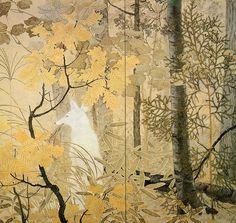 White Fox (1914) by Kanzan Shimomura