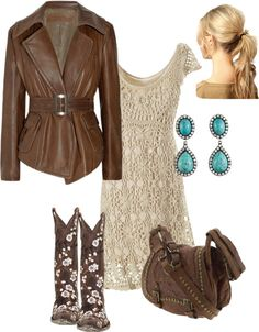 """""""Cowboy Chic"""" by donnalynnsmith on Polyvore another jacket"""