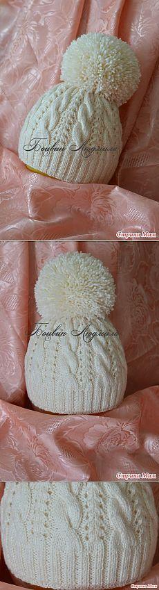 Шапка с помпоном - Вязание - Страна Мам