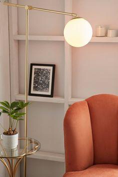 Slide View: 2: Globe Floor Lamp