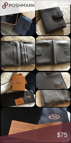 Tod's Card Holder Tod's men's flip card holder. It has 8 pockets with regional box and card. Tod's Accessories Key & Card Holders