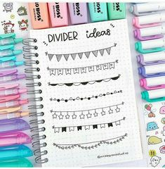 New divider ideas for your bullet journal/study notes ⭐️let me know if you like them ⭐️ where are you guys from? If you want to… Bullet Journal Titles, Bullet Journal Banner, Journal Fonts, Bullet Journal Notebook, Bullet Journal Aesthetic, Bullet Journal Inspiration, Bullet Journal Dividers, Bullet Journals, Study Notes