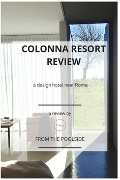 A review of the Antonnello Colonna resort in Italy near Rome. Design and good food to relax the mind and the eyes after the rich sights of Rome.