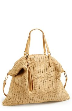 POVERTY FLATS by rian Woven Tote available at #Nordstrom