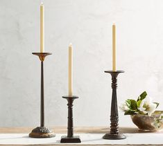 Cast Iron Candle Sconces - Pictures of Cakes and Candles Rustic Candleholders, Candlesticks, Iron Candle Holder, Lantern Candle Holders, Tea Candles, Pillar Candles, Hurricane Candle, Pottery Barn, Metal Lanterns