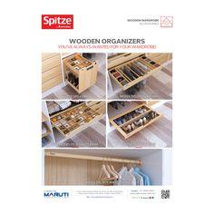 Spitze's Wooden Organizers are sleek, elegant, trendy and here to stay… #Spitze #spitzebyeveryday #MarutiInteriorProducts #WoodenWardrobeAccessories #WoodenOrganizers #WoodenSafe #WoodenTrouser #WoodenJeweleryOrganizer #WoodenShoeRack #WoodenOvalWithBracket