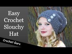 How to Crochet a Slouchy Hat - Sideways Shell Slouch Hat Pattern - YouTube