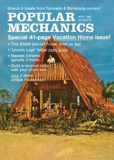 Popular Mechanics A Frame Cabin, A Frame House, Custom Home Designs, Custom Homes, Lindal Cedar Homes, Butterfly Roof, Cabin Kits, Prefabricated Houses, Roof Styles