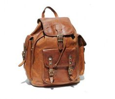 Vintage Brown Backpack