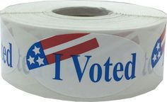 I Voted Stickers  500 Total 2 x 1 Oval Labels  by TheDotSpotLane