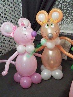 Birthday Party Decorations Balloons Mice 63 New Ideas Balloon Crafts, Balloon Decorations Party, Birthday Party Decorations, Balloon Flowers, Balloon Bouquet, Christmas Balloons, Balloon Arrangements, Balloon Columns, Balloon Animals