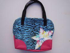SALE: Zebra bowling bag inspired handbag by rginart on Etsy