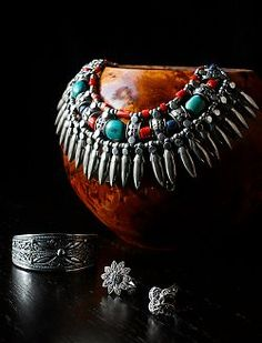 Gorgeous turquoise jewelry display..I like this idea!