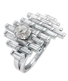 Mathon Paris 'Brooklin' ring in White gold with Diamonds